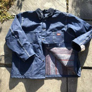 Dickies Mens NWT Denim Blanket Lined Button Down C